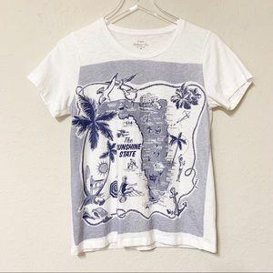J. Crew | Collector Tees | Florida Map T-Shirt